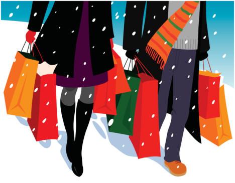 Los niños y la publicidad para las compras en navidad