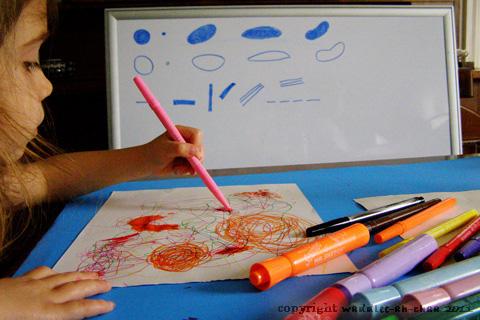 Los primeros garabatos que pintan los niños